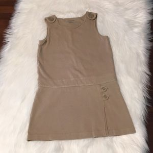 Lands' End Knit khaki uniform jumper Size 6